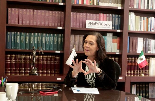 Adriana Favela Herrera en el INE