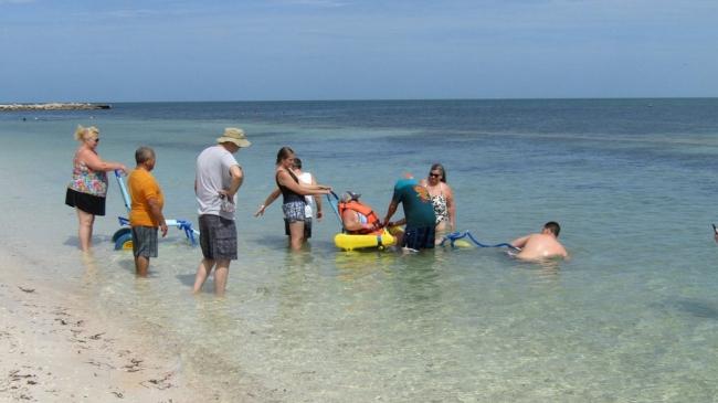 Balneario inclusivo Playa Bonita en Campeche