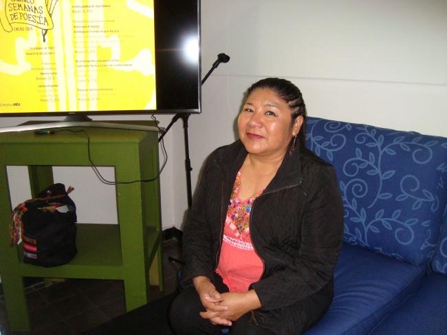 Celerina Patricia Sánchez, participó en recital de poesía en lenguas originarias