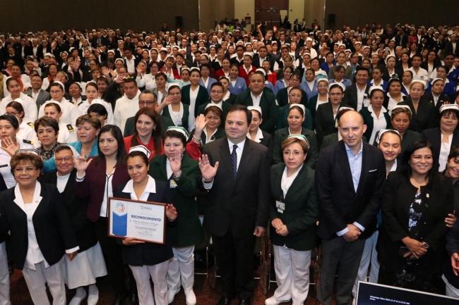 Conmemoración del Día Nacional de la Enfermera y Enfermero en Puebla