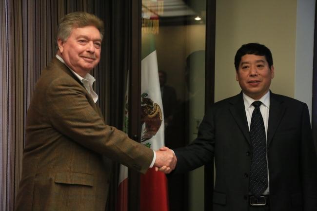 Francisco Vega de Lamadrid se reúne con empresarios chinos