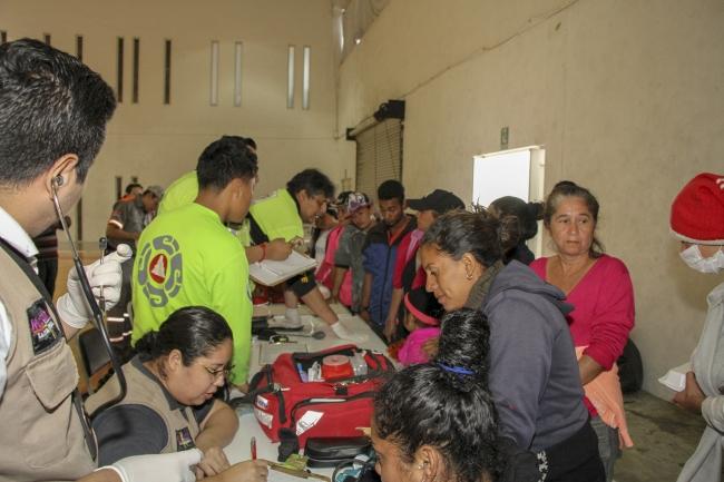 Apoyo humanitario en Nuevo León a caravana migrante