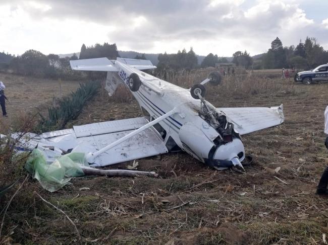 Cae aeronave en el Estado de México