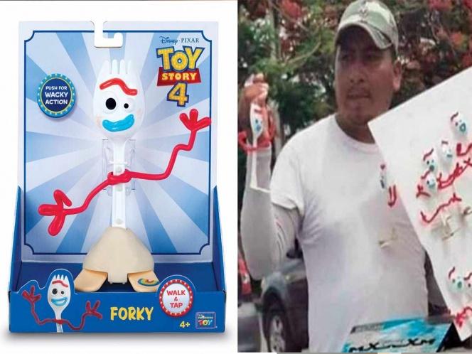 Venden a 'Forky' de Toy Story en México