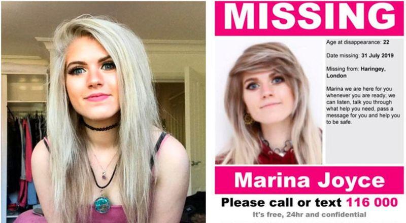 Marina Joyce sigue desaparecida