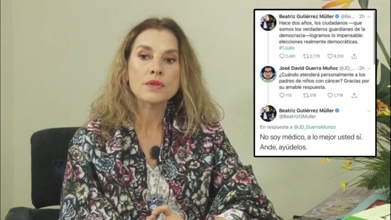 Beatriz Gutiérrez Müller esposa de López Obrador, una insensible dos caras
