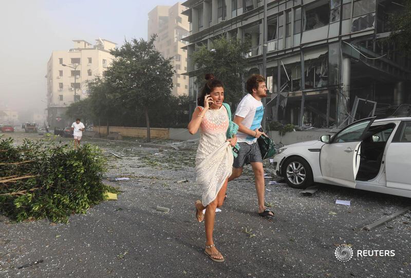 Las afectaciones tras la Explosión en Beirut son similares a un sismo de 7 grados