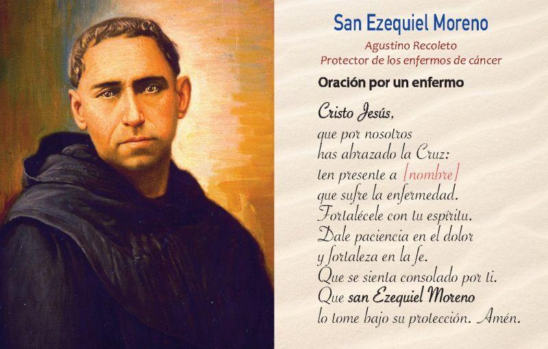 San Ezequiel Moreno protector de los enfermos de cancer