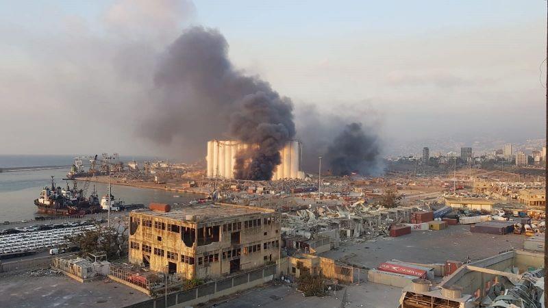 Tras la explosión así quedó el puerto 12 de Beirut, los daños son visibles a varios kilómetros a la redonda.