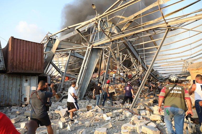 Zona de bodegas en el puerto 15, a 3 puertos de distancia de la zona de la explosión de Beirut